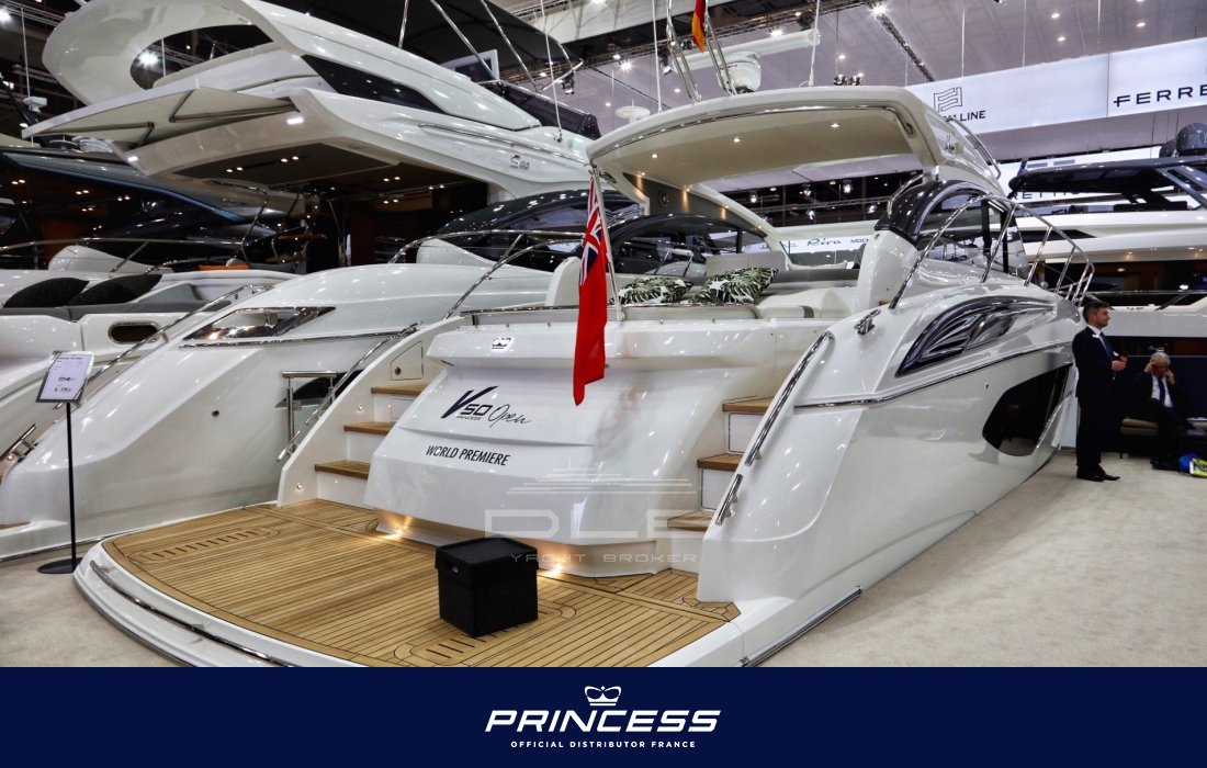 PRINCESS V50 Nouveau/New Model site.neufs-specifications - DLB Yacht Broker