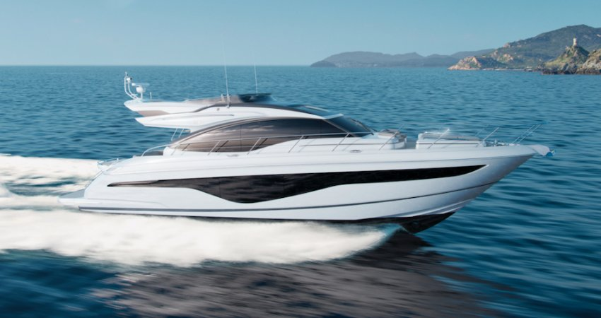 New Princess S62 exhibited at the Dusseldorf Boat Show 18-26 January