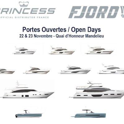 Portes Ouvertes PRINCESS Yachts France FJORD Côte d'Azur du 22 au 24 Novembre
