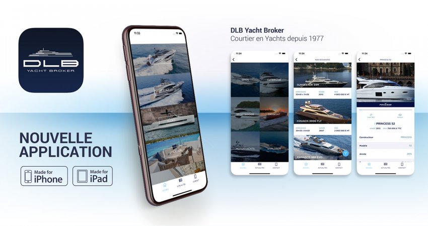 Nouvelle application DLB Yacht Broker disponible dans l'APPLE Store